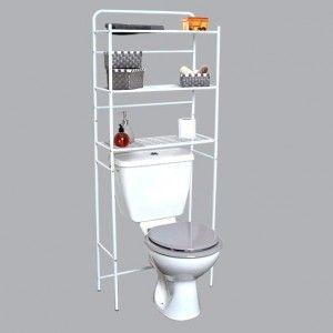meuble dessus wc m tal blanc eminza. Black Bedroom Furniture Sets. Home Design Ideas