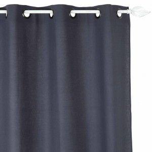 rideau 140 x 240 cm ecolo bleu rideaux eminza. Black Bedroom Furniture Sets. Home Design Ideas