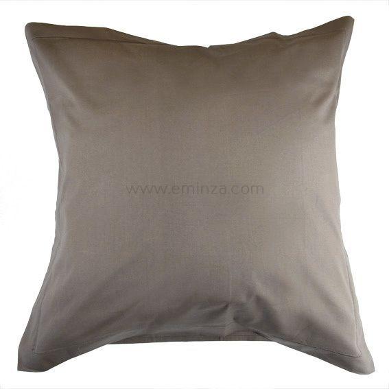 linge de lit taupe eminza. Black Bedroom Furniture Sets. Home Design Ideas
