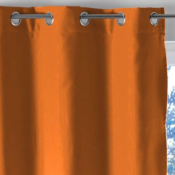 rideau oeillets occultant h180 lumia orange eminza. Black Bedroom Furniture Sets. Home Design Ideas