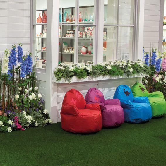 pouf fauteuil pour enfant vert eminza. Black Bedroom Furniture Sets. Home Design Ideas