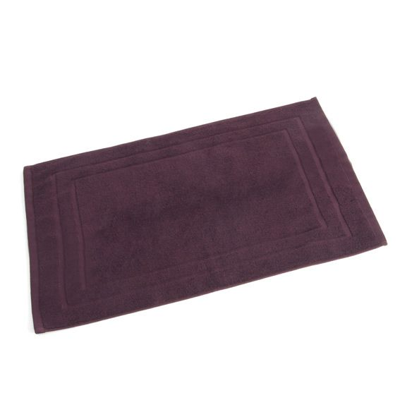 Tapis de bain violet eminza - Tapis de bain aubergine ...