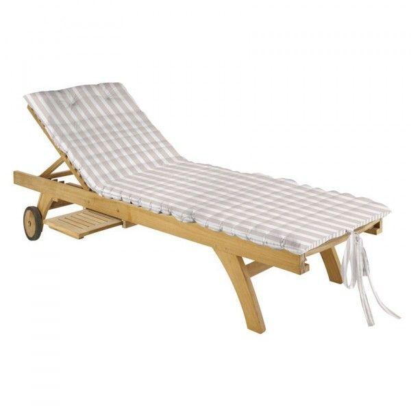 Coussin de bain de soleil coussin et housse de protection eminza - Housse bain de soleil ...