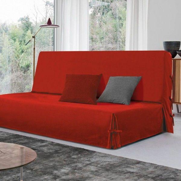 housse clic clac rouge maison design. Black Bedroom Furniture Sets. Home Design Ideas