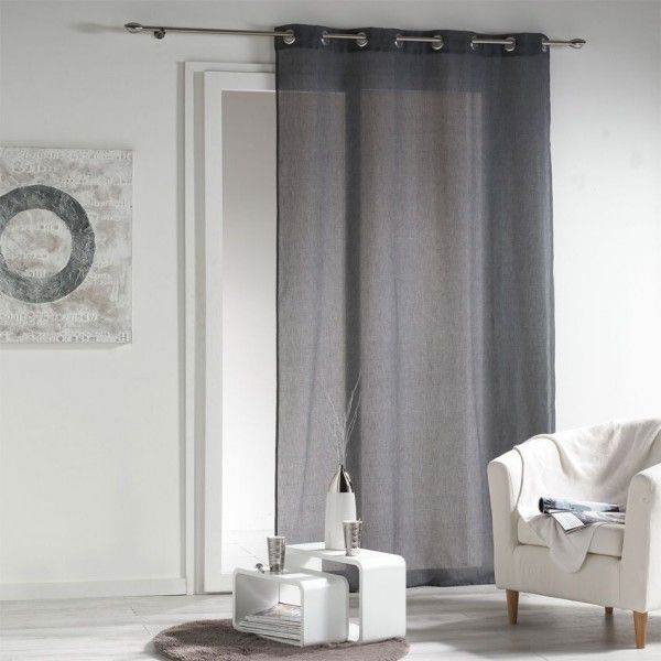 voilage gris rideau et voilage eminza. Black Bedroom Furniture Sets. Home Design Ideas