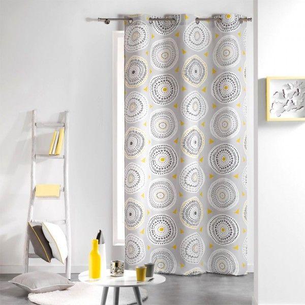 rideaux jaune rideau et voilage eminza. Black Bedroom Furniture Sets. Home Design Ideas