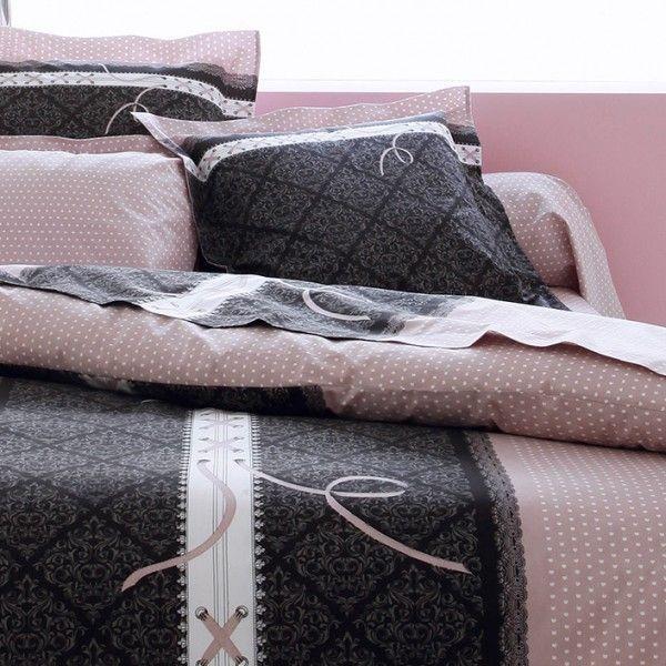 drap housse coton sup rieur 140 cm glamour rose drap housse eminza. Black Bedroom Furniture Sets. Home Design Ideas